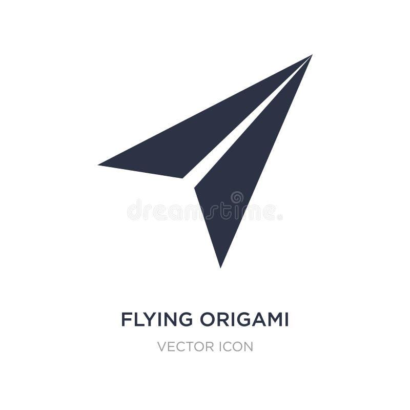 значок летая самолета origami на белой предпосылке Простая иллюстрация элемента от концепции UI бесплатная иллюстрация