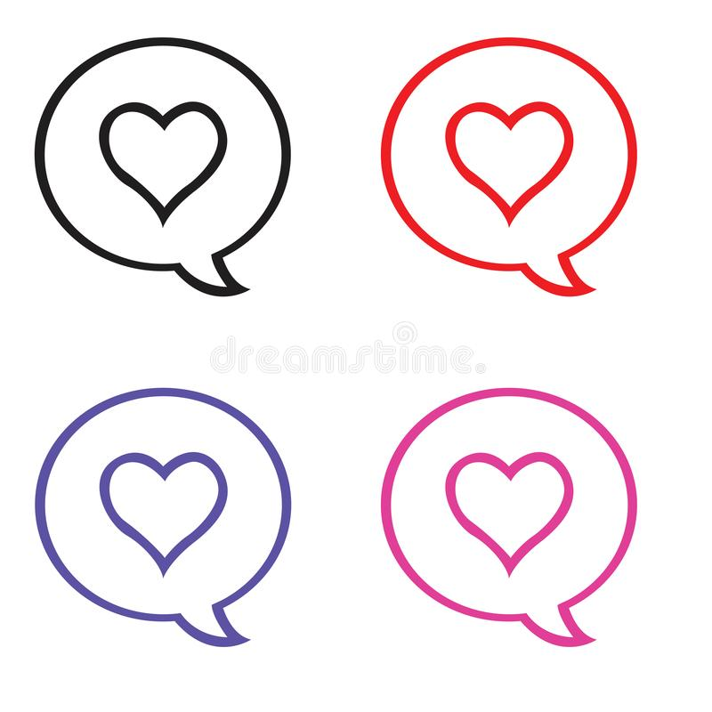 Значок любов и беседуя пузырь иллюстрация штока