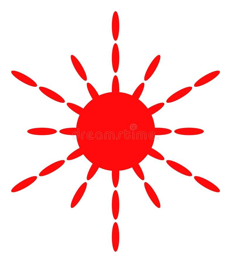 Значок лучей Солнца вектора бесплатная иллюстрация