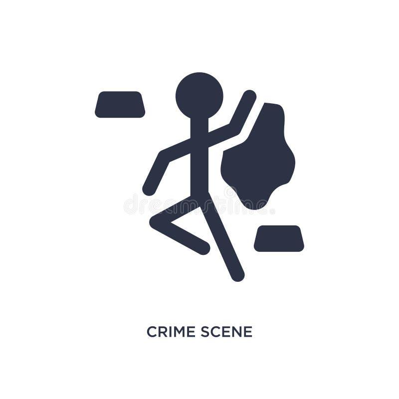 значок места преступления на белой предпосылке Простая иллюстрация элемента от концепции закона и правосудия иллюстрация вектора