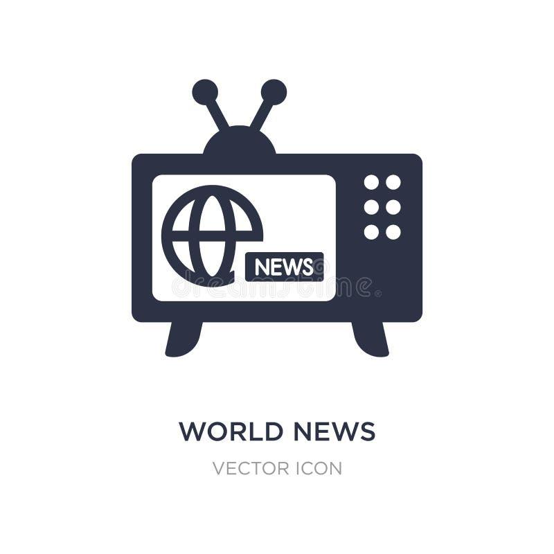 значок мировых новостей на белой предпосылке Простая иллюстрация элемента от концепции технологии иллюстрация вектора