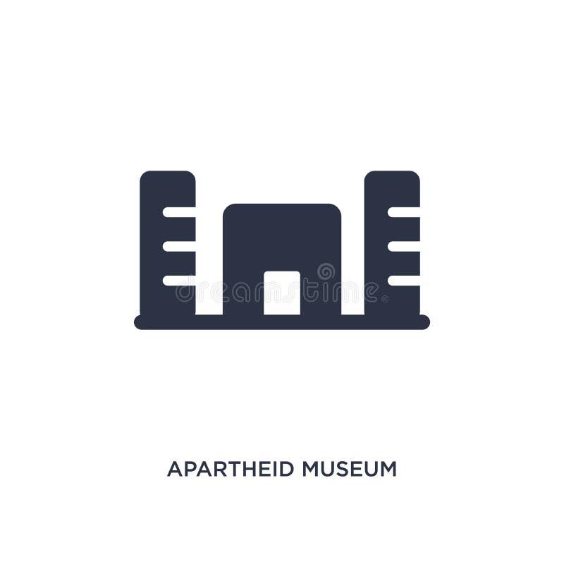 значок музея арартеида на белой предпосылке Простая иллюстрация элемента от концепции Африки иллюстрация вектора