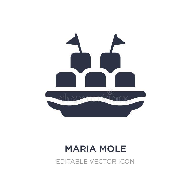 значок моли maria на белой предпосылке Простая иллюстрация элемента от еды и концепции ресторана иллюстрация штока