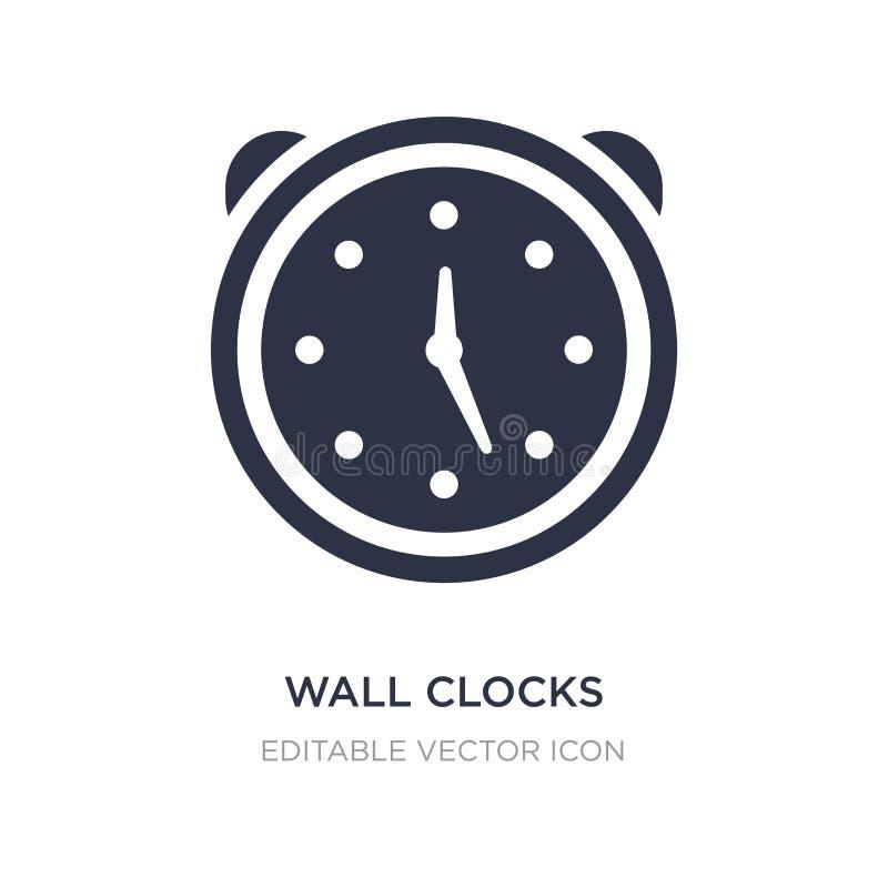 значок настенных часов на белой предпосылке Простая иллюстрация элемента от обобщенного представления бесплатная иллюстрация