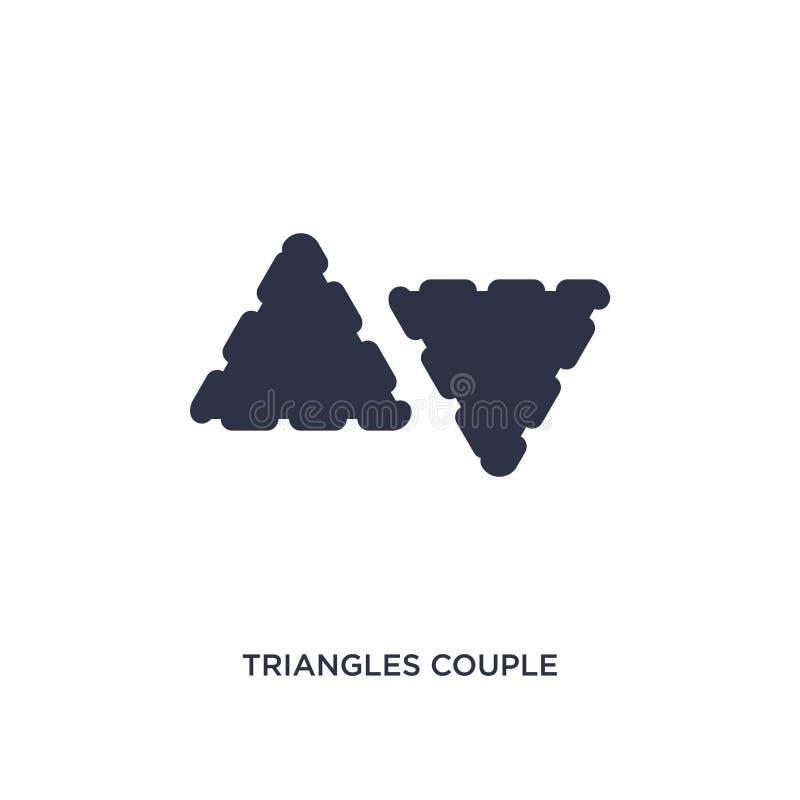 значок пар треугольников на белой предпосылке Простая иллюстрация элемента от концепции геометрии иллюстрация вектора