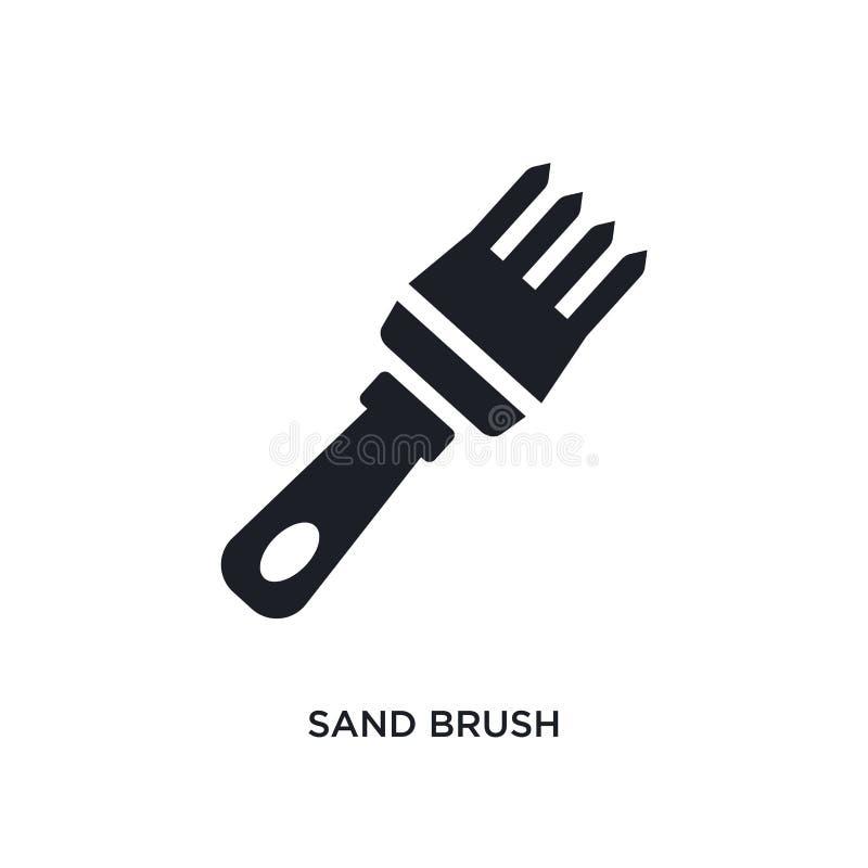 значок песка изолированный щеткой простая иллюстрация элемента от значков концепции конструкции дизайн символа знака логотипа щет иллюстрация вектора