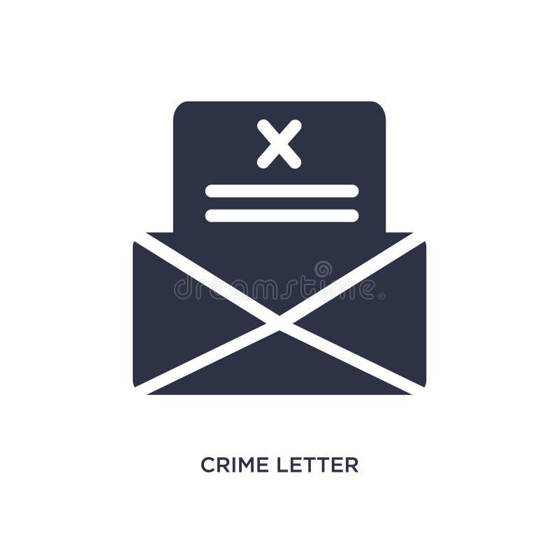 значок письма преступления на белой предпосылке Простая иллюстрация элемента от концепции закона и правосудия иллюстрация вектора