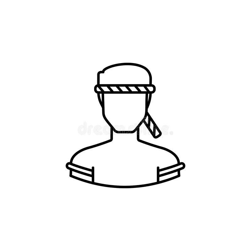 Значок плана набережной воплощения тайский Знаки и символы можно использовать для приложения UI UX логотипа сети мобильного иллюстрация вектора
