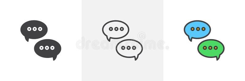 Значок пузыря речи диалога бесплатная иллюстрация