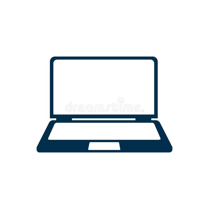 Значок прибора ноутбука, приборы офиса - вектор запаса бесплатная иллюстрация