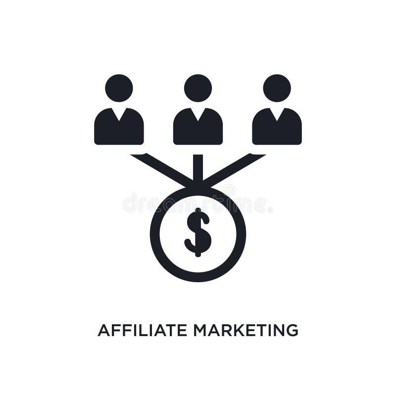 значок присоединенного филиала изолированный маркетингом простая иллюстрация элемента от значков концепции технологии логотип мар бесплатная иллюстрация