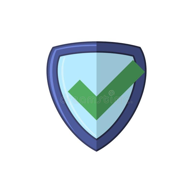Значок проверки безопасности, логотип экрана, защищает знак Марк одобрило логотип, символ предохранителя, набор уединения системы бесплатная иллюстрация