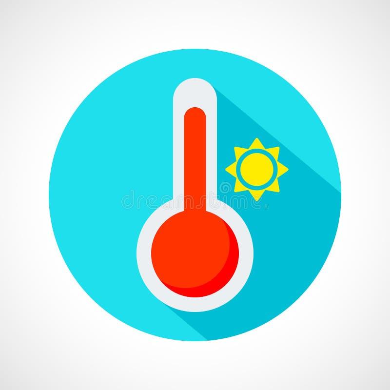 Значок погоды горячий иллюстрация вектора