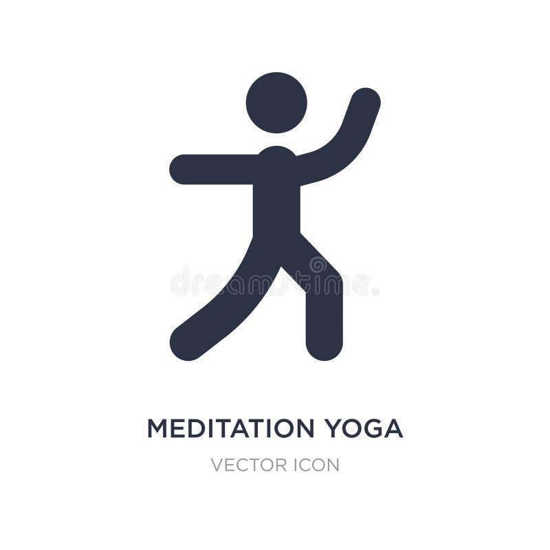 значок позиции йоги раздумья на белой предпосылке Простая иллюстрация элемента от концепции спорт иллюстрация штока