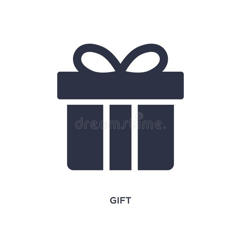 Значок подарка на белой предпосылке _прост элемент иллюстраци от доставка и логистическ концепци бесплатная иллюстрация