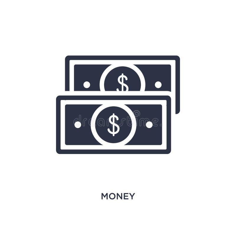 значок денег на белой предпосылке Простая иллюстрация элемента от концепции стратегии иллюстрация вектора