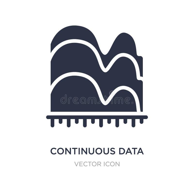 значок диаграммы волны непрерывных данных графический на белой предпосылке Простая иллюстрация элемента от концепции дела бесплатная иллюстрация