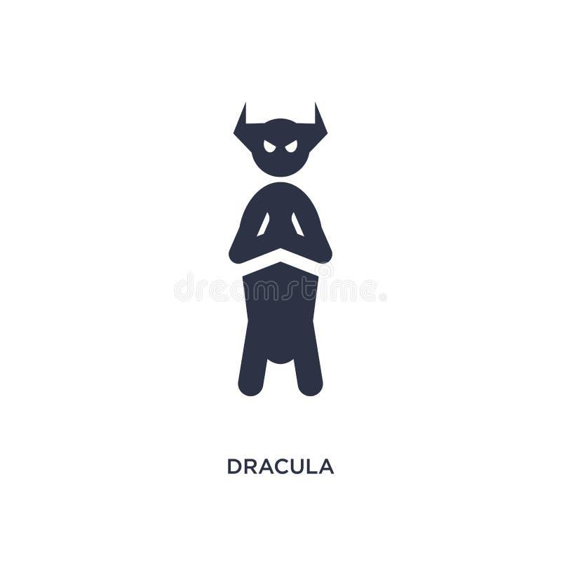значок Дракула на белой предпосылке Простая иллюстрация элемента от концепции литературы иллюстрация вектора