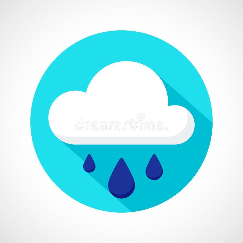 Значок дождя ливня погоды бесплатная иллюстрация