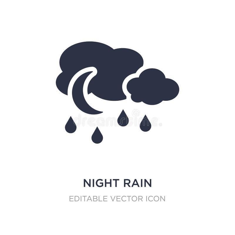 значок дождя ночи на белой предпосылке Простая иллюстрация элемента от концепции погоды иллюстрация штока