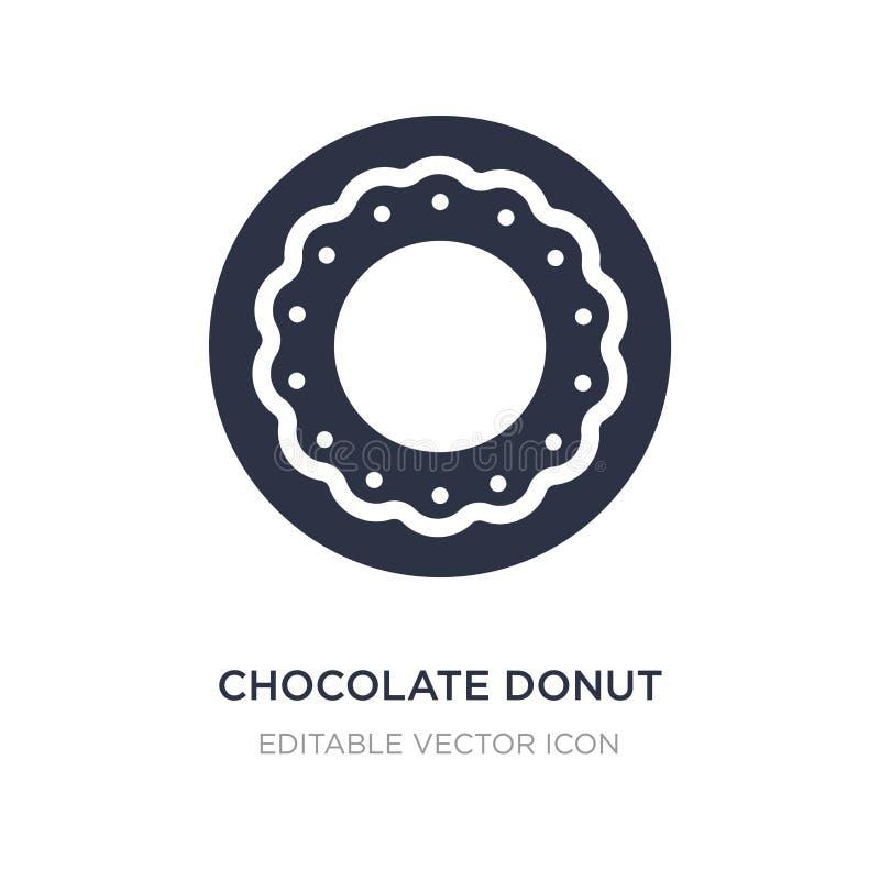 значок донута шоколада на белой предпосылке Простая иллюстрация элемента от концепции еды бесплатная иллюстрация
