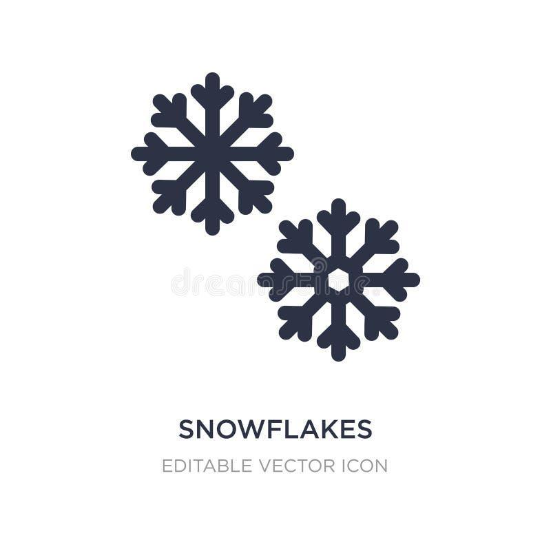 значок снежинок на белой предпосылке Простая иллюстрация элемента от концепции погоды иллюстрация штока