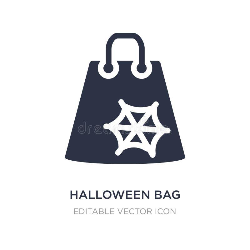 значок сумки хеллоуина на белой предпосылке Простая иллюстрация элемента от концепции хеллоуина бесплатная иллюстрация