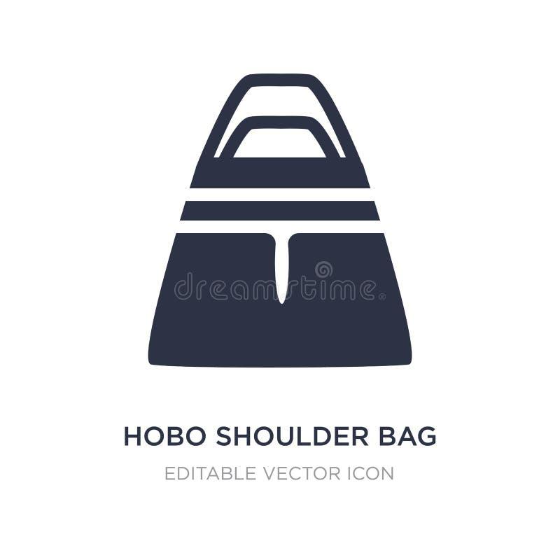 значок сумки hobo на белой предпосылке Простая иллюстрация элемента от концепции моды иллюстрация вектора