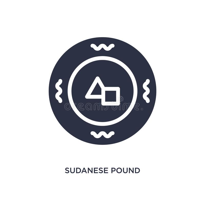 значок суданского фунта на белой предпосылке Простая иллюстрация элемента от концепции Африки иллюстрация вектора