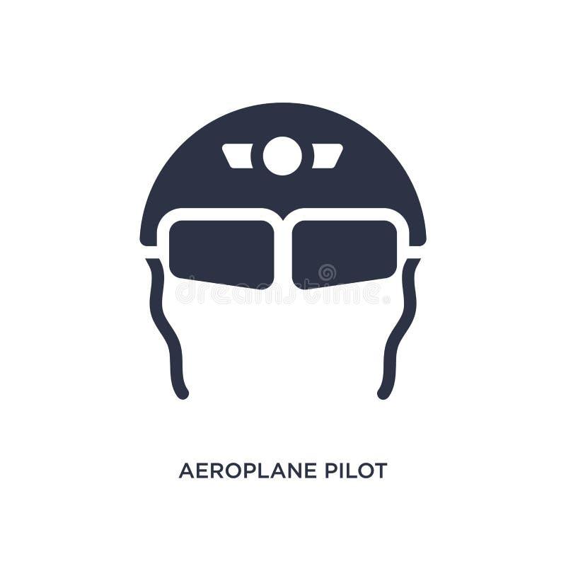 значок стекел пилота аэроплана на белой предпосылке Простая иллюстрация элемента от концепции крупного аэропорта иллюстрация вектора