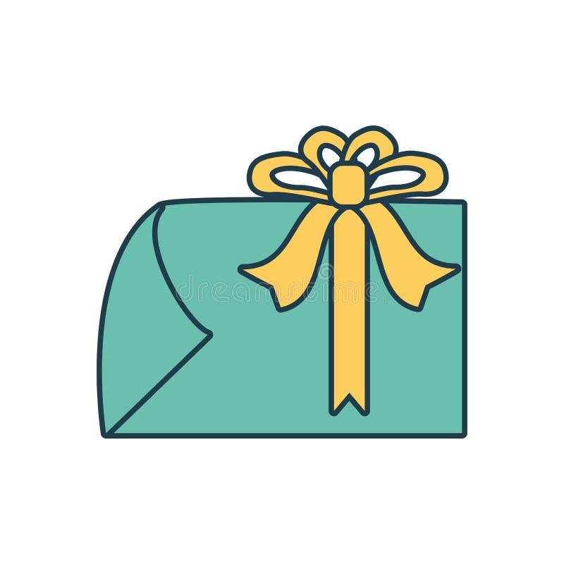 Значок стикера подарка коммерчески бесплатная иллюстрация