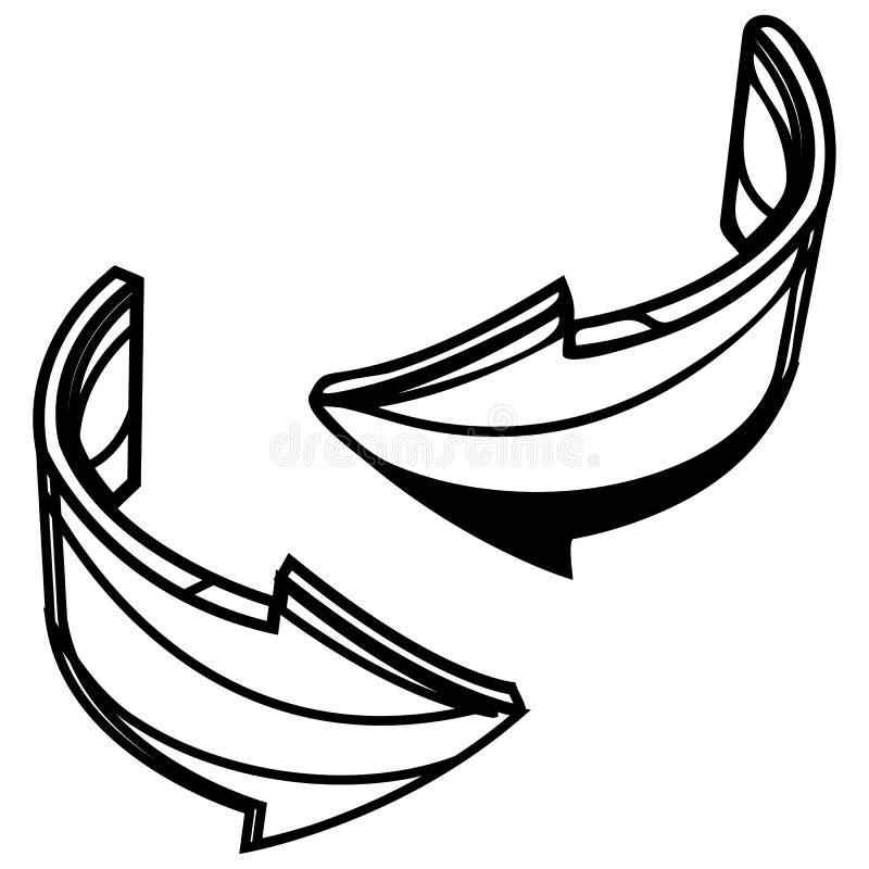 Значок стрелки обмена - иллюстрация иллюстрация штока