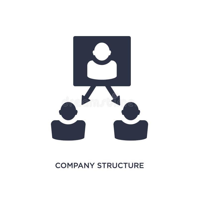 значок структуры компании на белой предпосылке Простая иллюстрация элемента от концепции человеческих ресурсов иллюстрация штока