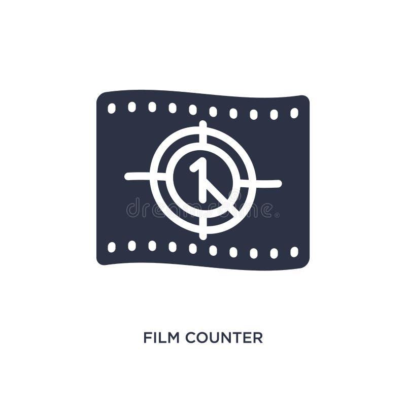 значок счетчика фильма на белой предпосылке Простая иллюстрация элемента от концепции кино бесплатная иллюстрация