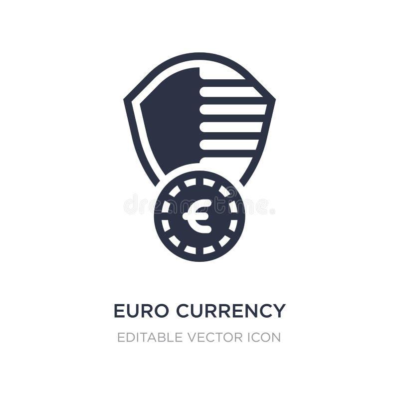 значок экрана безопасностью валюты евро на белой предпосылке Простая иллюстрация элемента от концепции безопасностью иллюстрация вектора