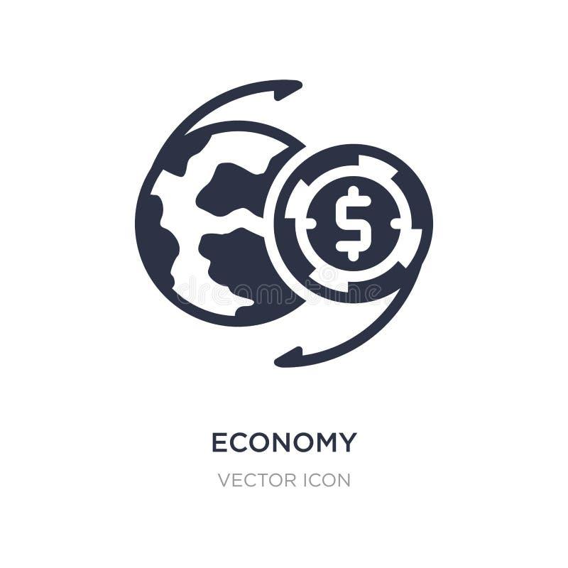 значок экономики на белой предпосылке Простая иллюстрация элемента от концепции экономики цифров бесплатная иллюстрация