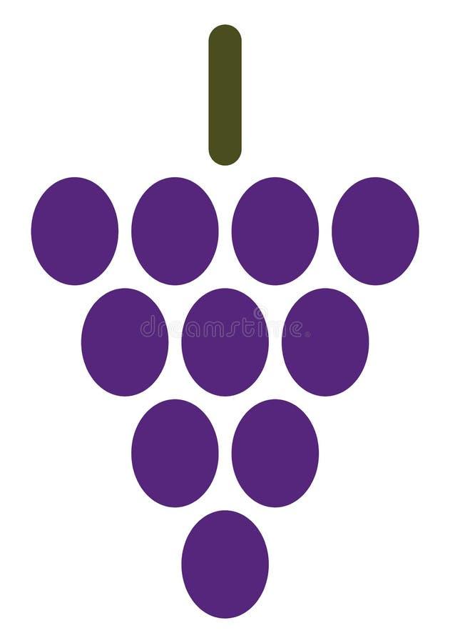 Значок ягоды виноградины вектора иллюстрация вектора