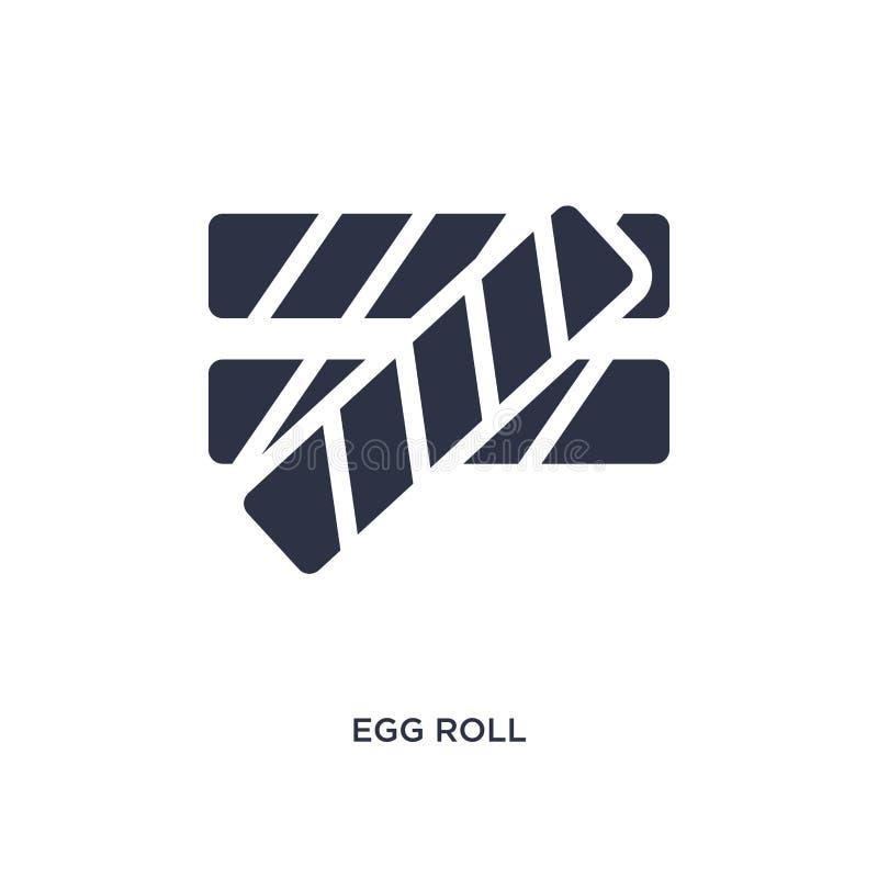 значок яичного рулетика на белой предпосылке Простая иллюстрация элемента от концепции культуры иллюстрация штока