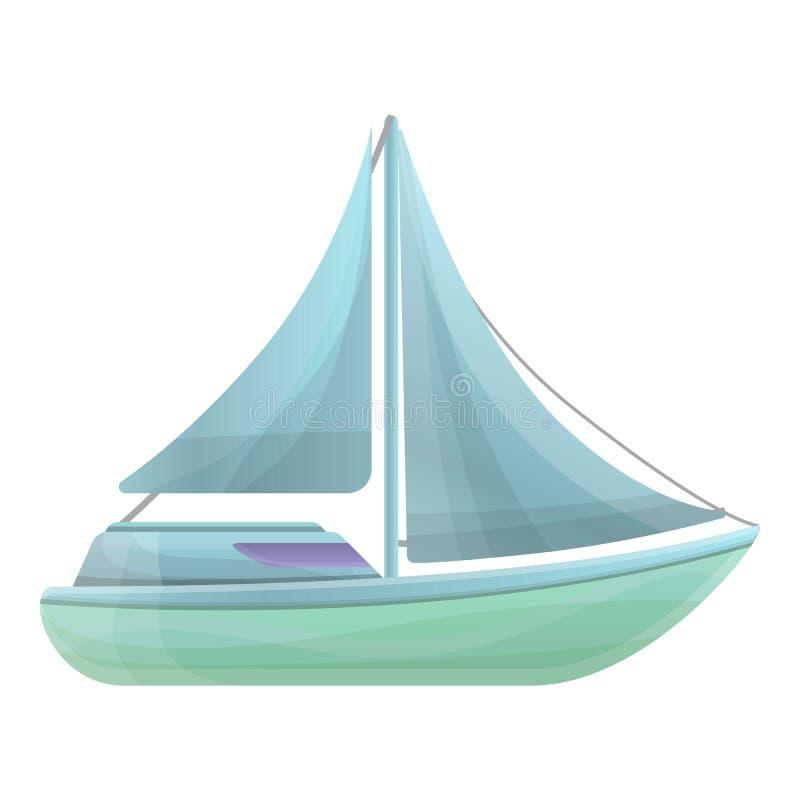 Значок яхты, стиль шаржа иллюстрация вектора