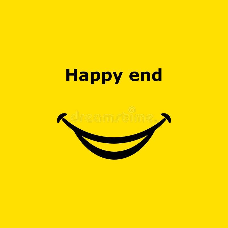 Значок улыбки конец счастливый также вектор иллюстрации притяжки corel 10 eps иллюстрация вектора