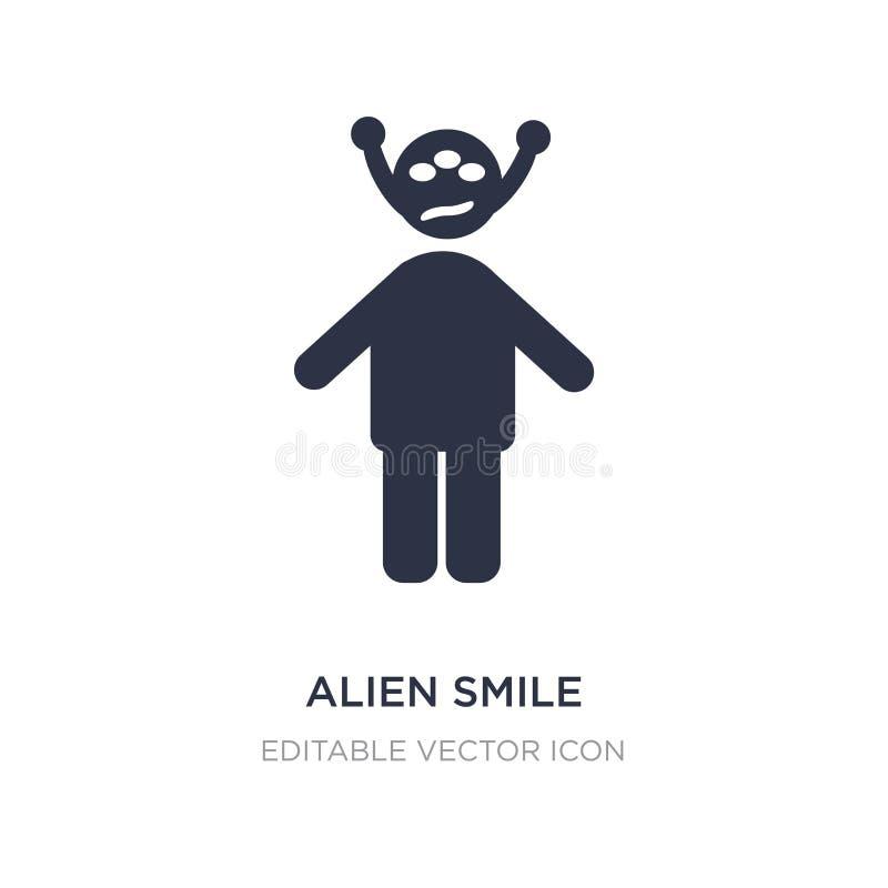 значок улыбки чужеземца на белой предпосылке Простая иллюстрация элемента от концепции людей бесплатная иллюстрация