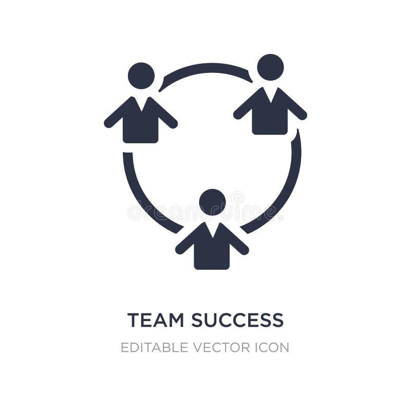 значок успеха команды на белой предпосылке Простая иллюстрация элемента от концепции людей бесплатная иллюстрация