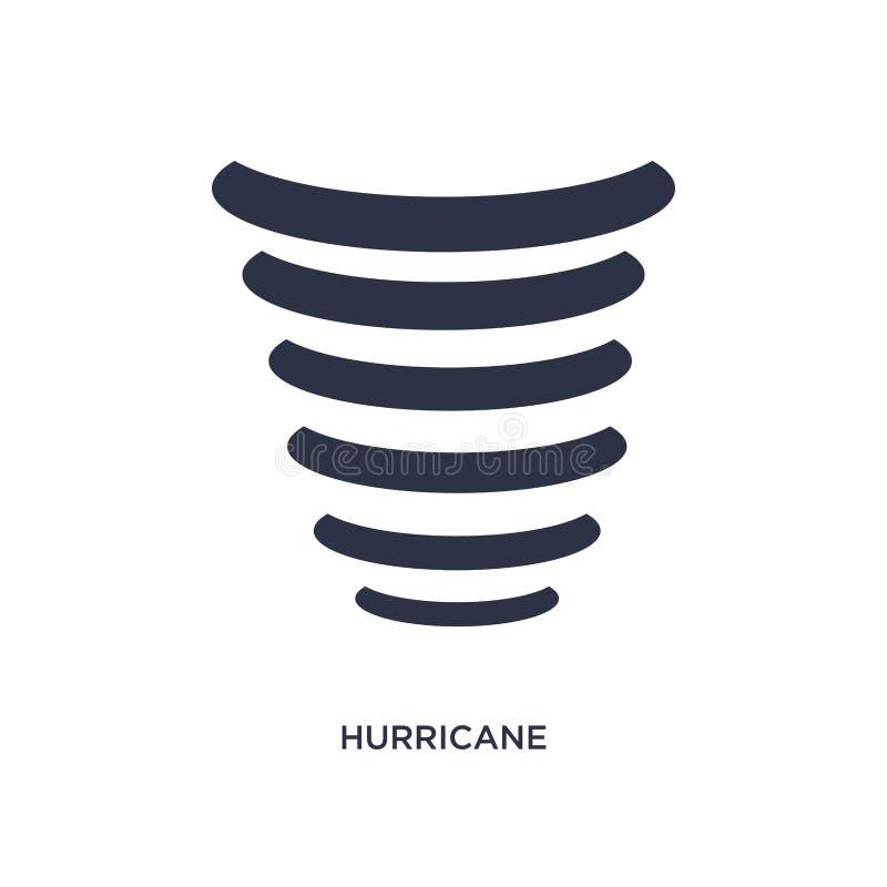 значок урагана на белой предпосылке Простая иллюстрация элемента от концепции метеорологии иллюстрация штока