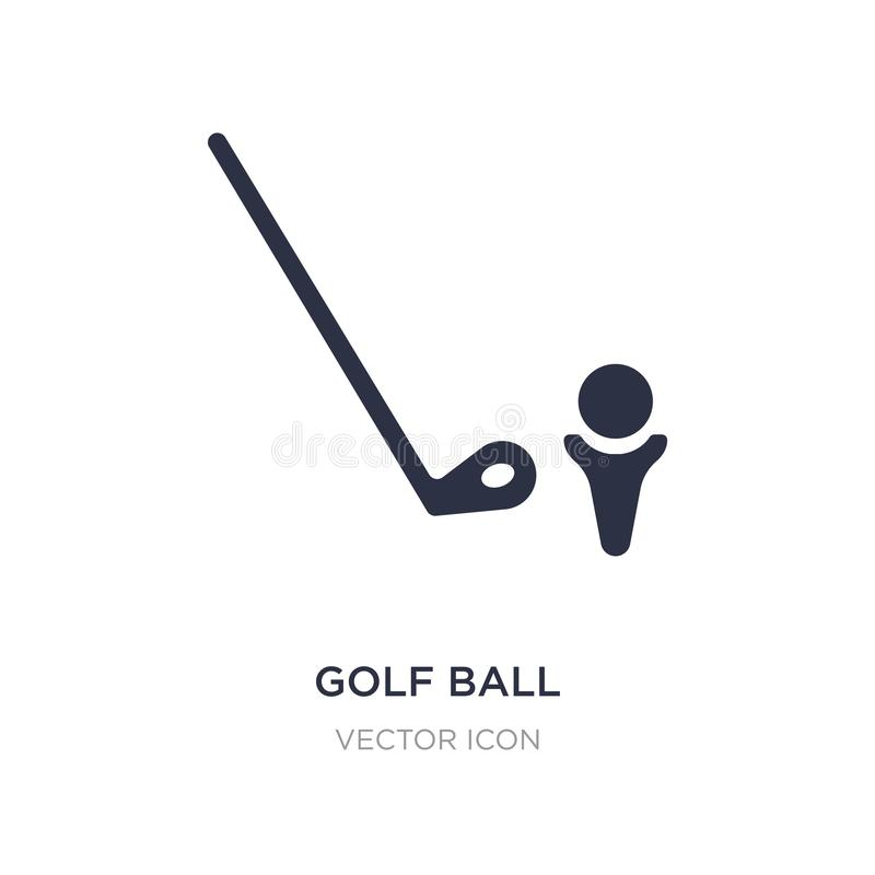 Значок шара для игры в гольф на белой предпосылке Простая иллюстрация элемента от деятельности и концепции хобби иллюстрация вектора