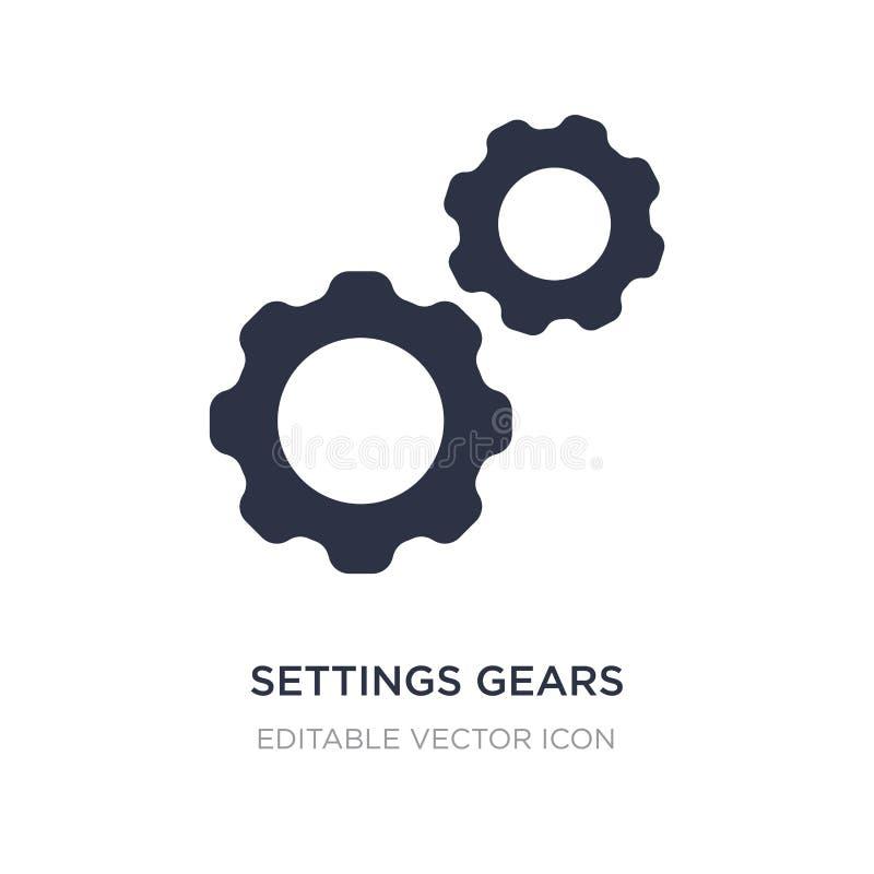 значок шестерней установок на белой предпосылке Простая иллюстрация элемента от концепции инструментов и утварей иллюстрация штока