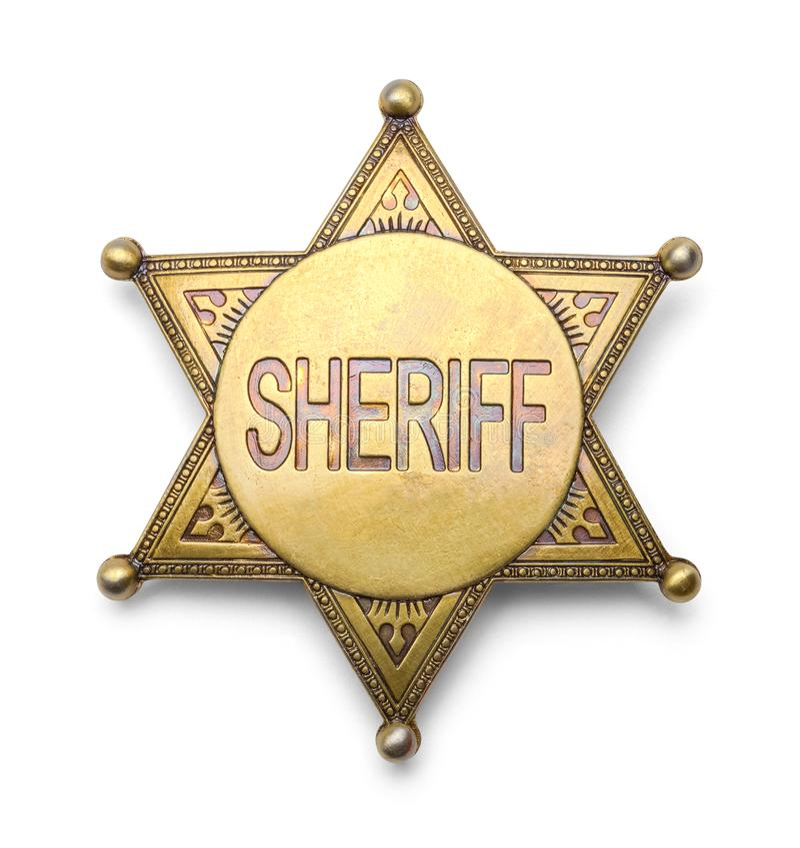 Значок шерифа стоковое фото