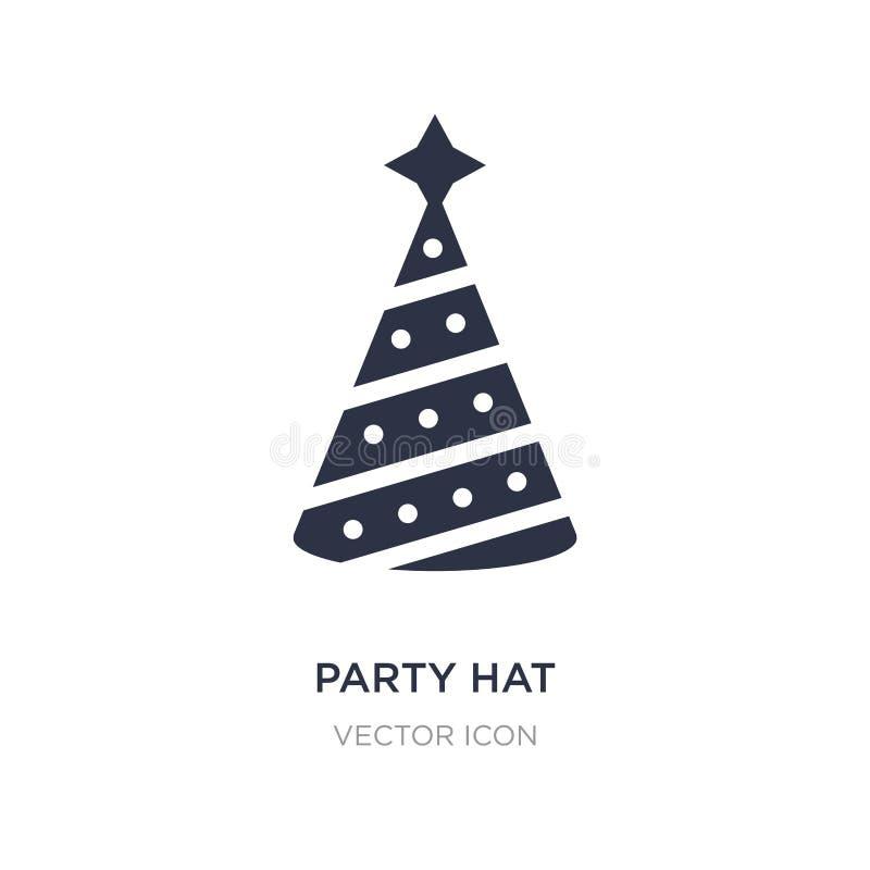 значок шляпы партии на белой предпосылке Простая иллюстрация элемента от развлечений и концепции аркады бесплатная иллюстрация