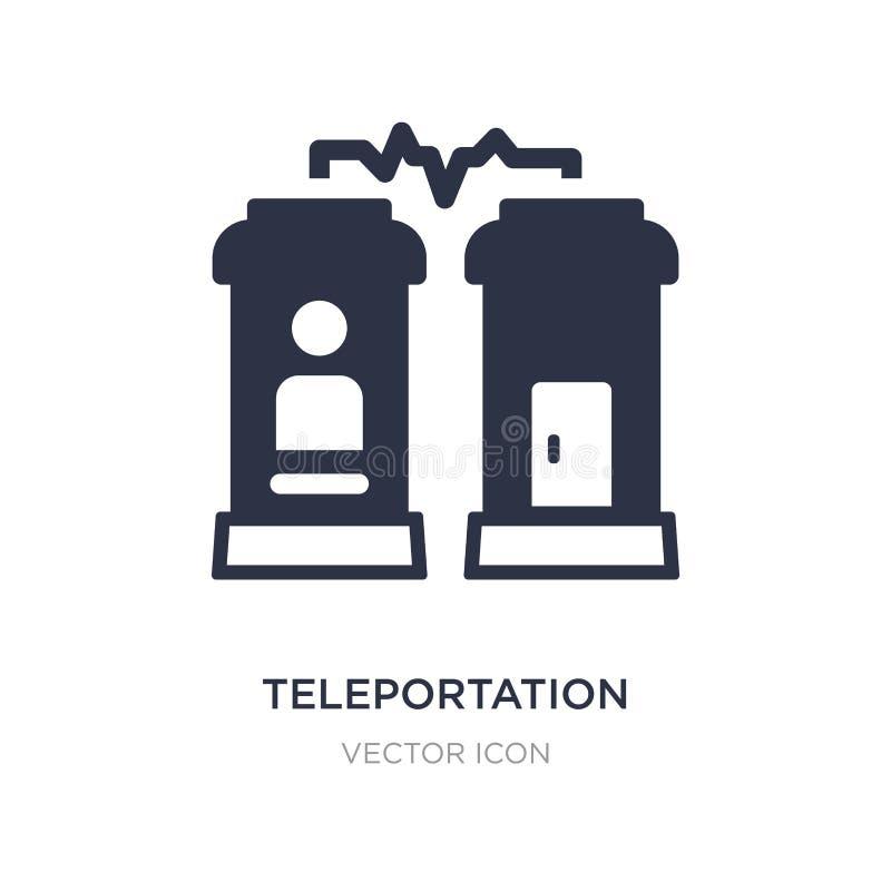 значок телепортации на белой предпосылке Простая иллюстрация элемента от будущей концепции технологии бесплатная иллюстрация