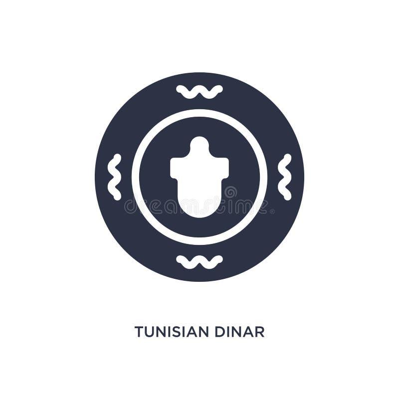 значок тунисского динара на белой предпосылке Простая иллюстрация элемента от концепции Африки иллюстрация штока