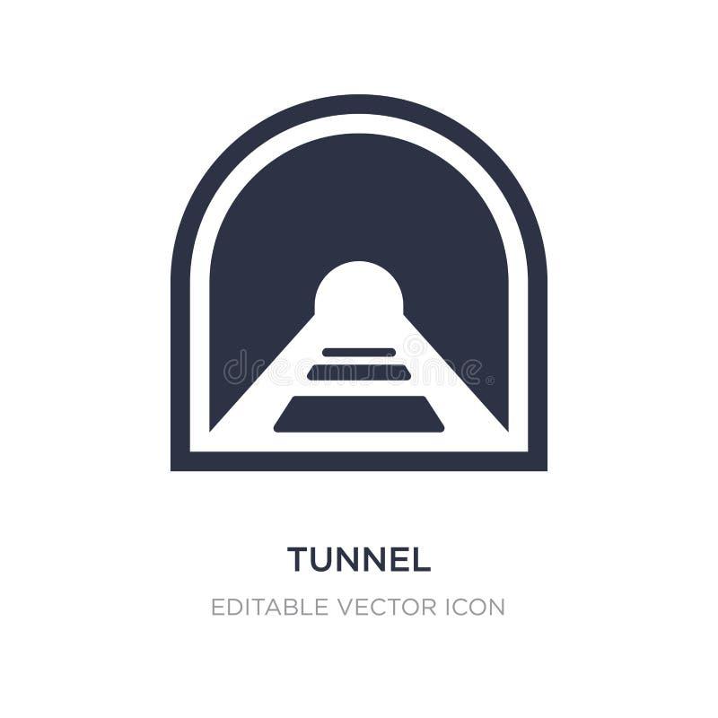 значок тоннеля на белой предпосылке Простая иллюстрация элемента от концепции знаков иллюстрация вектора
